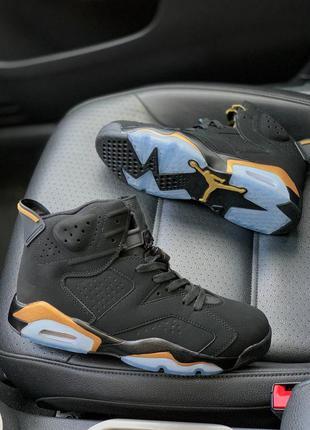 Nike air jordan retro 6 dmp black 🖤🍁 кросівки найк джордан 6 ч...