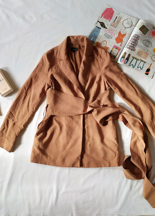 Пиджак жакет карамельного цвета Topshop