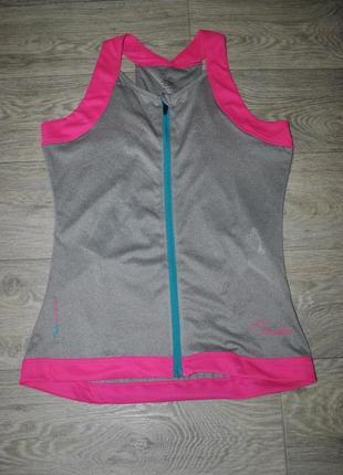 Продам спортивную серую майку бренда dare2b с розовым велосипедка