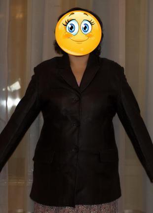 Кожаный пиджак в отличном состоянии, размер 52-54 #розвантажуюсь