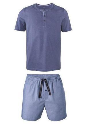 Мужская пижама, комплект для дома livergy р. l 52-54