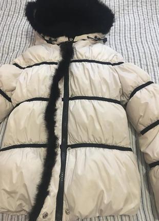 Куртка тёплая с мехом норки
