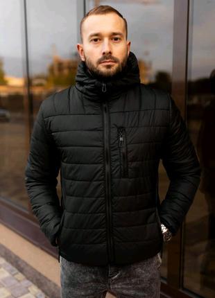 Куртка ветровка мужская весна бомбер пуховик