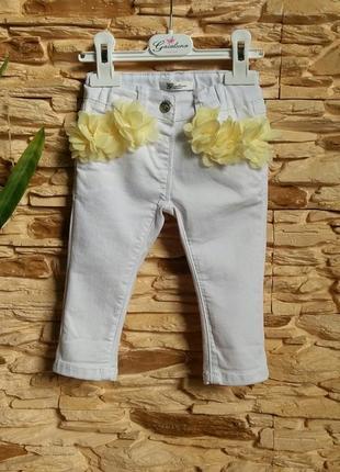 Джинсы/штаны gaialuna (италия) на 6-12 месяцев (размер 70)