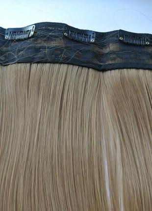 11-20 волосы трессы цвет рыжий №30 затылочная прядь на заколка...