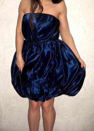 Платье copenhagen вечернее пачка синее