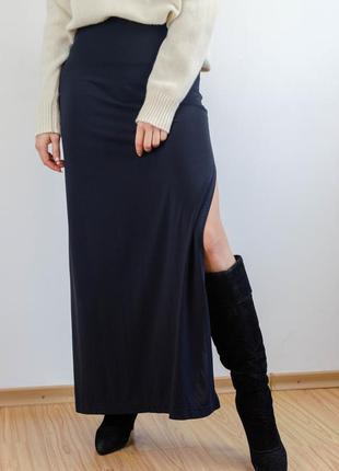 Moschino jeans оригинальная винтажная юбка в пол с высоким раз...