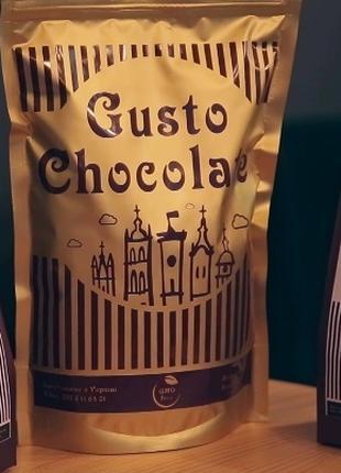Натуральний Гарячий Шоколад. 350г Hot Chocolate. Gusto Chocolate.
