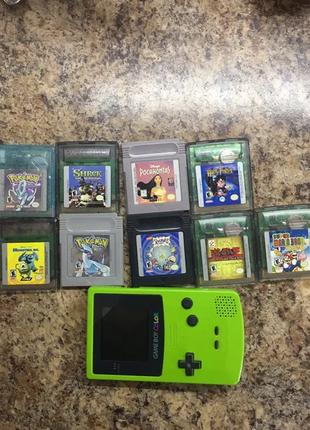 Nintendo GAME BOY + 9 игр + сумочка