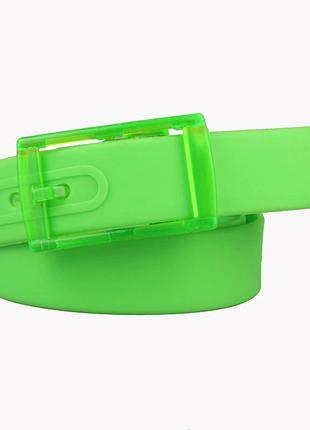 Ремень зеленый силиконовый на пластиковой пряжке