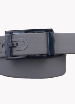 Ремень серый силиконовый на пластиковой пряжке