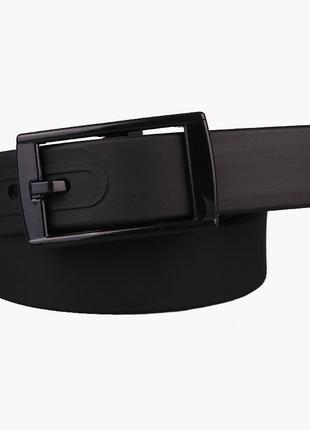 Ремень черный силиконовый на пластиковой пряжке