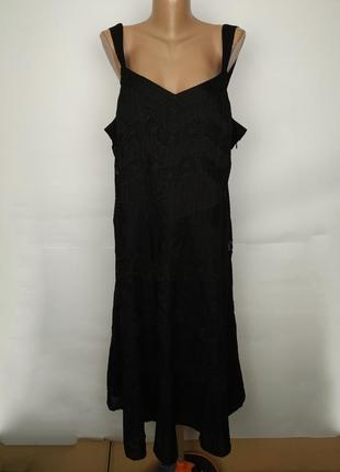 Платье новое натуральное стильное кружево батистовка большой р...