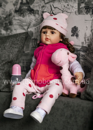 60 см кукла реборн Reborn жираф куклы для девочек большие