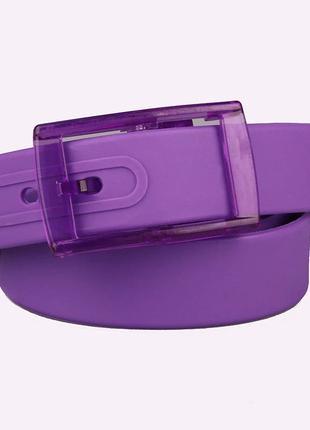 Ремень фиолетовый силиконовый на пластиковой пряжке