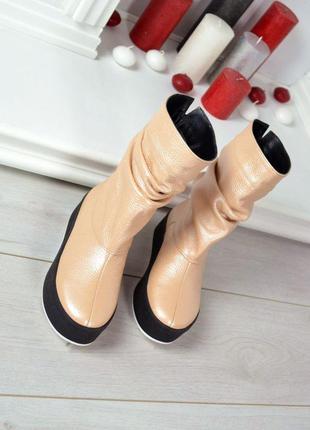 Шкіряні чоботи кожаные сапоги сапожки угги уги угі
