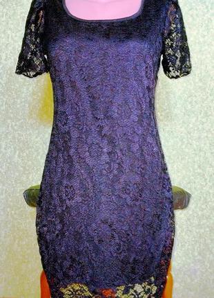 Черное платье кружево