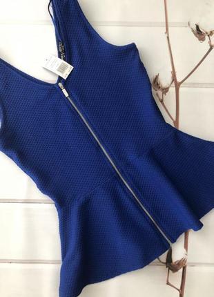 Кофточка на молнии с баской . блуза с баской