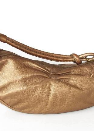 Эффектная сумка fossil, натуральная кожа