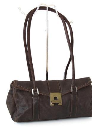 Стильная оригинальная сумка abro, германия, натуральная кожа