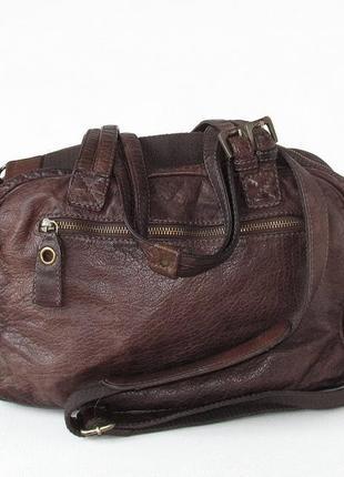 Бомбезная сумка depeche, натуральная кожа