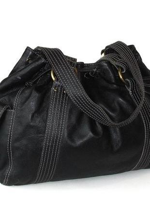 Большая удобная сумка, натуральная кожа