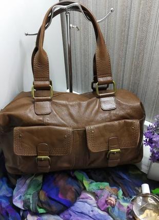 Удобная сумка v&d, голландия, натуральная кожа