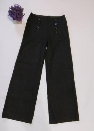 Ультрамодные широкие брюки h&m, британия, шерсть