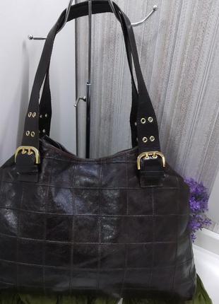 Большая классная сумка lanzetti, италия, натуральная кожа