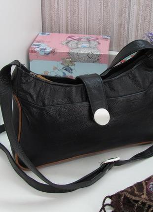 Компактная сумка кроссбоди, натуральная кожа