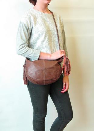 Эффектная сумка кроссбоди mulberry, натуральная кожа. оригинал!