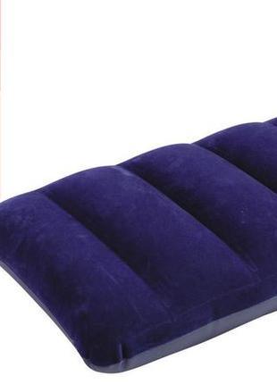 Надувная подушка флокированная Intex