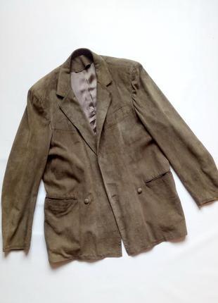 Мужской пиджак, натуральная кожа\замша. италия.