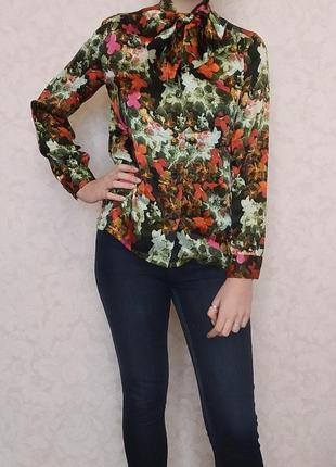 Эксклюзивная ультрамодная блуза jessica m. nutzel, 100% шелк!