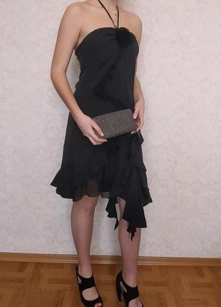 Роскошное вечернее платье karen millen, натуральный шелк
