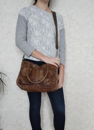 Крутая сумка  liebeskind, германия, натуральная кожа