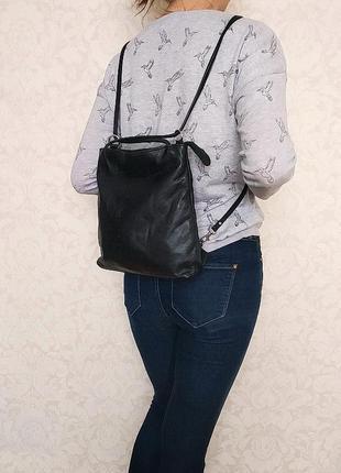 Оригинальная сумка рюкзак boxca, дания, натуральная кожа
