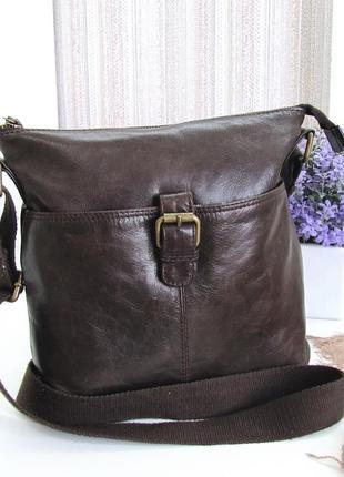 Классная сумка кроссбоди, fatface, британия, натуральная кожа