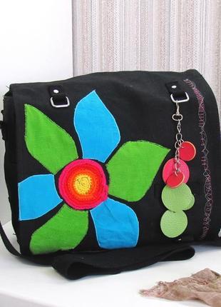 Интересная сумка mimi handarbeit, германия, текстиль.
