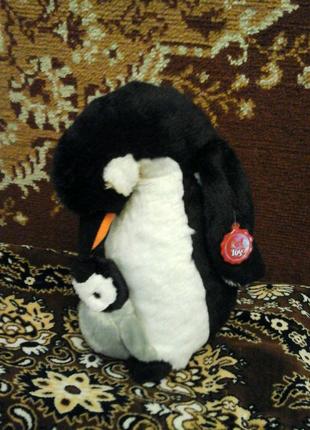 Мягкая игрушка Пингвин с пинвиненком новый с биркой