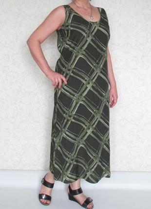 Платье marks & spencer, британия. большой размер. вискоза