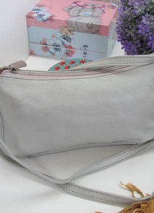 Легкая практичная сумка кроссбоди, натуральная кожа