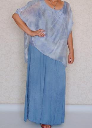 Роскошный блузон, платье, италия, натуральный шелк