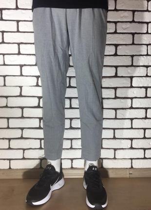 Серые , повседневные брюки mango man