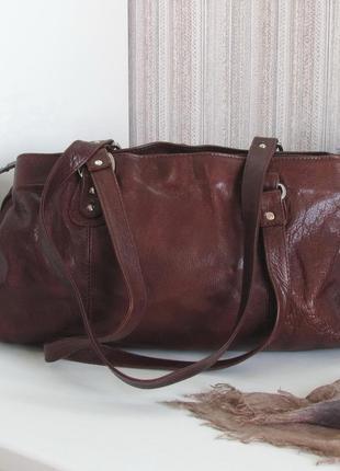 Породистая деловая сумка the monte, натуральная кожа