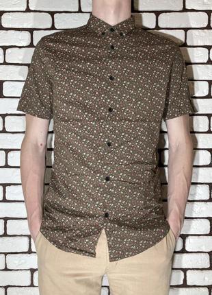 Разноцветная , летняя рубашка burton menswear london