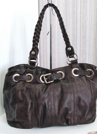 Роскошная сумка, италия, натуральная кожа.