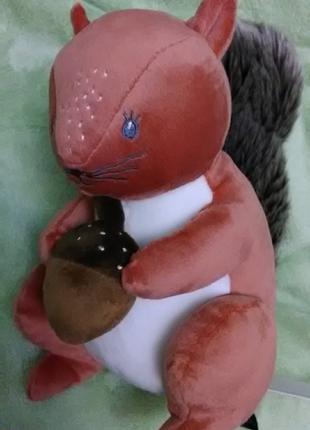 Качественная велюровая игрушка  Белка. Германия