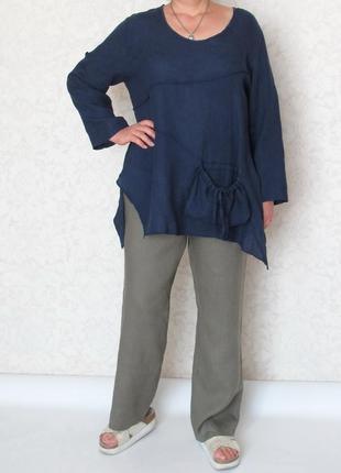 Модные брюки gerry weber, лен, большой размер!