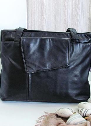 Большая практичная сумка patty pen, натуральная кожа